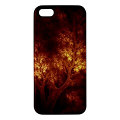 Artsy Brown Trees Apple Iphone 5 Premium Hardshell Case by allthingseveryone