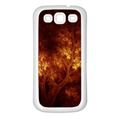 Artsy Brown Trees Samsung Galaxy S3 Back Case (white) by allthingseveryone