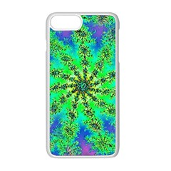 Green Psychedelic Starburst Fractal Apple Iphone 8 Plus Seamless Case (white) by allthingseveryone