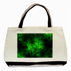 Artsy Bright Green Trees Basic Tote Bag (two Sides) by allthingseveryone