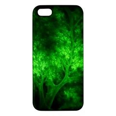 Artsy Bright Green Trees Apple Iphone 5 Premium Hardshell Case by allthingseveryone