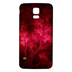 Artsy Red Trees Samsung Galaxy S5 Back Case (white) by allthingseveryone