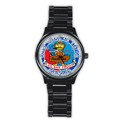 Coast Guard Air Station Borinquen Puerto Rico Stainless Steel Round Watch by teambridelasvegas