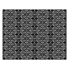 Black And White Ethnic Pattern Rectangular Jigsaw Puzzl by dflcprints