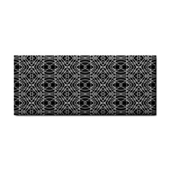 Black And White Ethnic Pattern Cosmetic Storage Cases by dflcprints