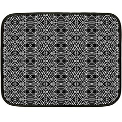 Black And White Ethnic Pattern Double Sided Fleece Blanket (mini)  by dflcprints