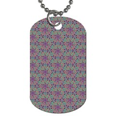 Flower Kaleidoscope Hand Drawing 2 Dog Tag (one Side) by Cveti