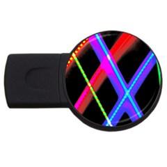 Xmas Light Paintings Usb Flash Drive Round (4 Gb) by Celenk