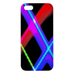 Xmas Light Paintings Apple Iphone 5 Premium Hardshell Case by Celenk
