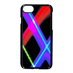 Xmas Light Paintings Apple Iphone 8 Seamless Case (black) by Celenk