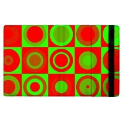 Redg Reen Christmas Background Apple Ipad 2 Flip Case by Celenk