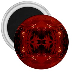Red Abstract 3  Magnets by Celenk