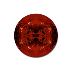 Red Abstract Magnet 3  (round) by Celenk