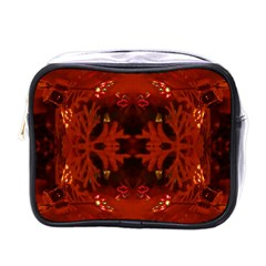 Red Abstract Mini Toiletries Bags by Celenk
