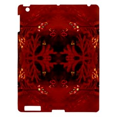 Red Abstract Apple Ipad 3/4 Hardshell Case by Celenk