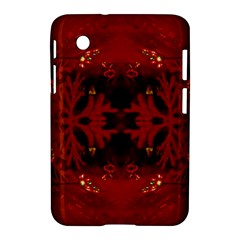 Red Abstract Samsung Galaxy Tab 2 (7 ) P3100 Hardshell Case  by Celenk