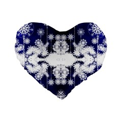The Effect Of Light  Very Vivid Colours  Fragment Frame Pattern Standard 16  Premium Flano Heart Shape Cushions by Celenk