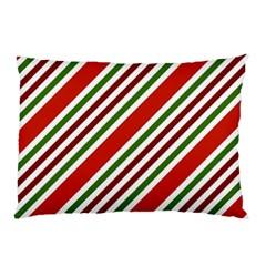 Christmas Color Stripes Pillow Case by Celenk