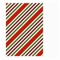 Christmas Color Stripes Large Garden Flag (two Sides) by Celenk