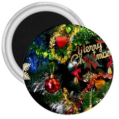 Decoration Christmas Celebration Gold 3  Magnets by Celenk