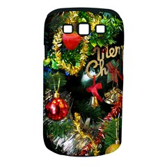 Decoration Christmas Celebration Gold Samsung Galaxy S Iii Classic Hardshell Case (pc+silicone) by Celenk