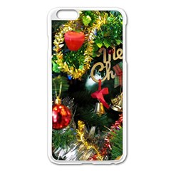Decoration Christmas Celebration Gold Apple Iphone 6 Plus/6s Plus Enamel White Case by Celenk