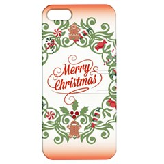 Merry Christmas Wreath Apple Iphone 5 Hardshell Case With Stand by Celenk