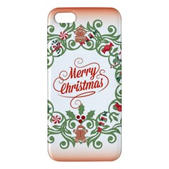 Merry Christmas Wreath Apple Iphone 5 Premium Hardshell Case by Celenk