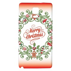 Merry Christmas Wreath Galaxy Note 4 Back Case by Celenk