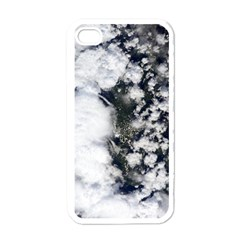 Earth Right Now Apple Iphone 4 Case (white) by Celenk