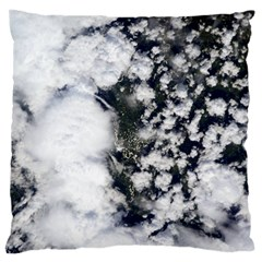 Earth Right Now Large Cushion Case (two Sides) by Celenk