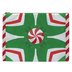 Candy Cane Kaleidoscope Cosmetic Bag (xxl)  by Celenk