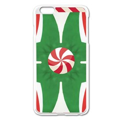Candy Cane Kaleidoscope Apple Iphone 6 Plus/6s Plus Enamel White Case by Celenk