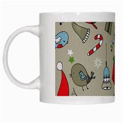 Beautiful Design Christmas Seamless Pattern White Mugs by Celenk