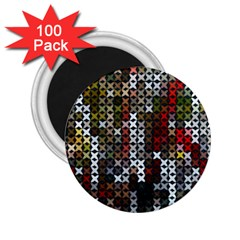 Christmas Cross Stitch Background 2 25  Magnets (100 Pack)  by Celenk