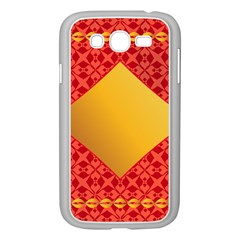Christmas Card Pattern Background Samsung Galaxy Grand Duos I9082 Case (white) by Celenk