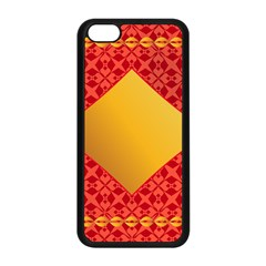 Christmas Card Pattern Background Apple Iphone 5c Seamless Case (black) by Celenk