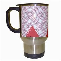 Christmas Card Elegant Travel Mugs (white) by Celenk