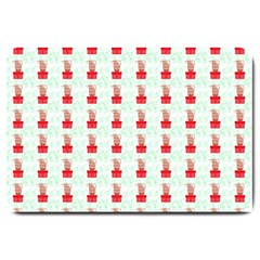 At On Christmas Present Background Large Doormat  by Celenk