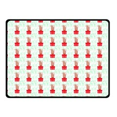 At On Christmas Present Background Fleece Blanket (small) by Celenk