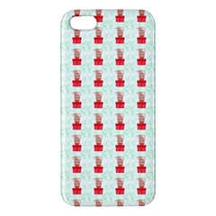At On Christmas Present Background Apple Iphone 5 Premium Hardshell Case by Celenk