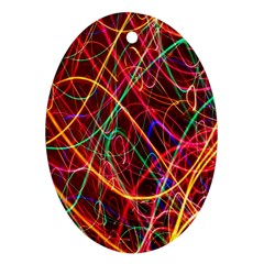 Wave Behaviors Oval Ornament (two Sides) by Celenk