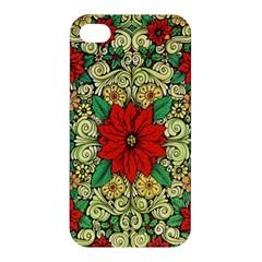 Calsidyrose Groovy Christmas Apple Iphone 4/4s Premium Hardshell Case by Celenk