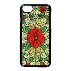Calsidyrose Groovy Christmas Apple Iphone 8 Seamless Case (black) by Celenk