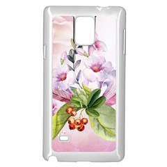 Wonderful Flowers, Soft Colors, Watercolor Samsung Galaxy Note 4 Case (white) by FantasyWorld7
