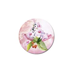 Wonderful Flowers, Soft Colors, Watercolor Golf Ball Marker (10 Pack) by FantasyWorld7