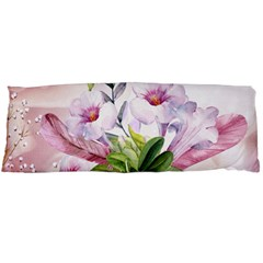 Wonderful Flowers, Soft Colors, Watercolor Body Pillow Case Dakimakura (two Sides) by FantasyWorld7