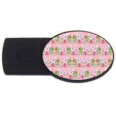 Floral Pattern Usb Flash Drive Oval (2 Gb) by SuperPatterns