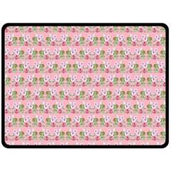Floral Pattern Fleece Blanket (large)  by SuperPatterns