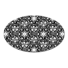 Star Crystal Black White 1 And 2 Oval Magnet by Cveti
